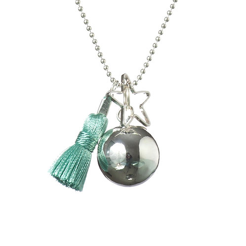 Pregnancy Baby Chime Necklace GYPSY MAMA - Turquoise