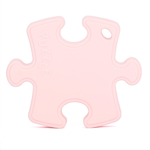 Sensory Silicone Baby Teething Toy Puzzle Clip - Pink