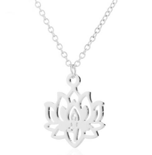 """Collier Bouddhiste ☾ """"Fleur de Lotus"""" - Argent"""
