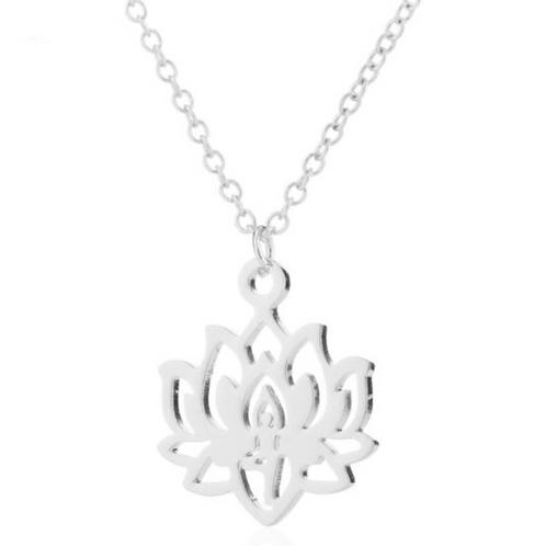 """Collier Bouddhiste ☾ """"Fleur de Lotus"""" - Argent 925"""