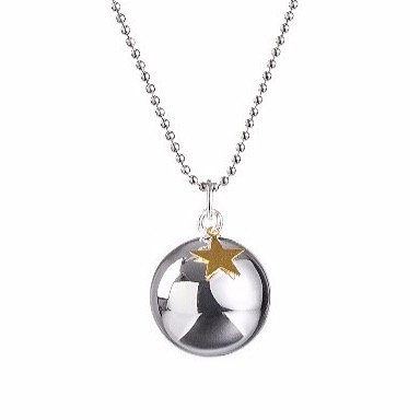 Pregnancy Chime Necklace BABY STAR - Gold