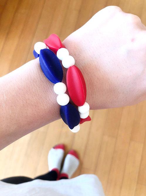Silikon Mama Armband MYLA - Blau