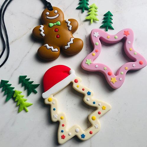 """Baby Beißring """"Weihnachtsbaum"""" - Vanilla"""