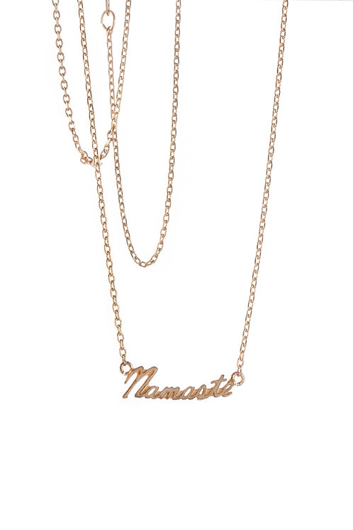 Namaste Necklace - Gold