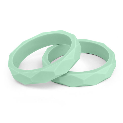 Teething Silicone Mama Bangle - Mint