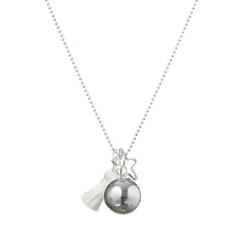 Pregnancy Baby Chime Necklace GYPSY MAMA - White