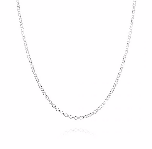 Rolo Chain Necklace - Sterling Silver 925