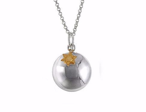 Pregnancy Chime Necklace - David Star