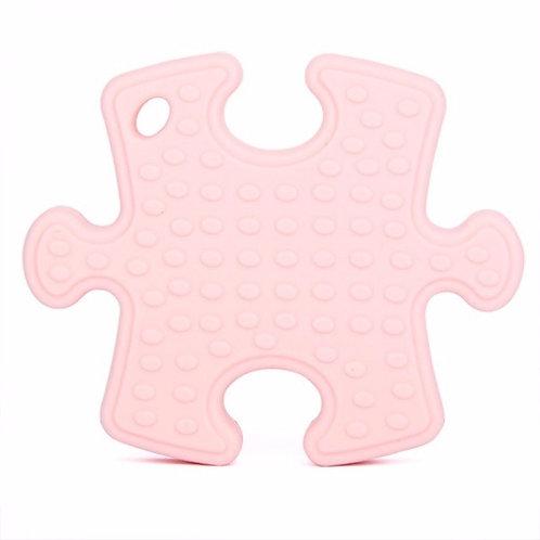 Gioco Massaggiagengive in Silicone - Puzzle Rosa