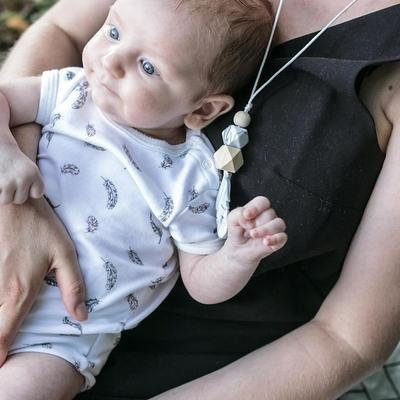 Teething Necklace Mini LOU - Marble
