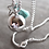 Thumbnail: Pregnancy Baby Chime Necklace GYPSY MAMA - Turquoise