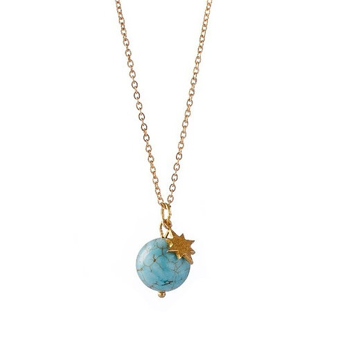 "Collier ☾ ""Wild Moon"" - Turquoise Naturelle de Californie"