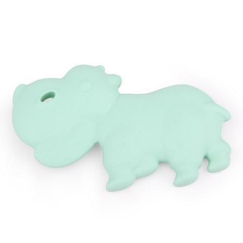 """Jouet de Dentition en Silicone """"Hippo"""" - Mint"""