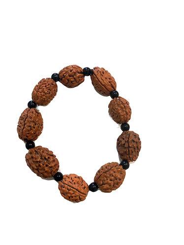 "Bracelet Mala ""Prière Sacrée"" ☾ - Rudraksha Homme"