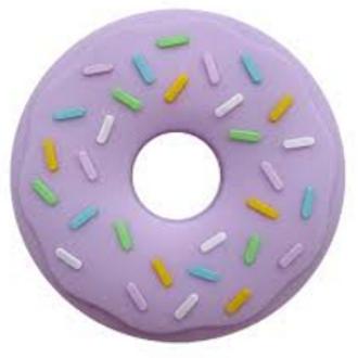 "Baby Silikon Beißring ""Donut"" - Lila"