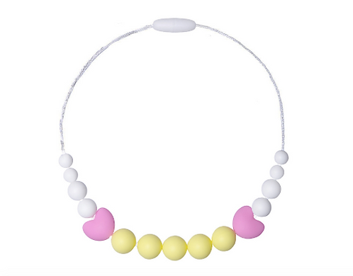 Collier Petite Fille LITTLE DIVA - Jaune