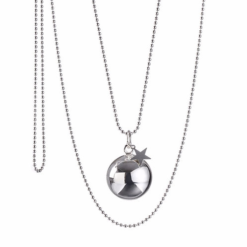 Pregnancy Chime Necklace BABY STAR - Silver