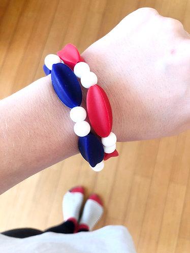 Bracelet de Dentition MYLA - Bleu Marine