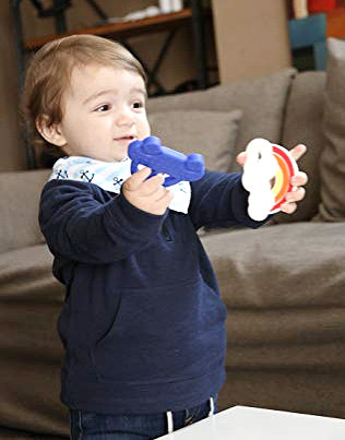 """Baby Teether """"Baby's First Car"""" - Navy Blue"""