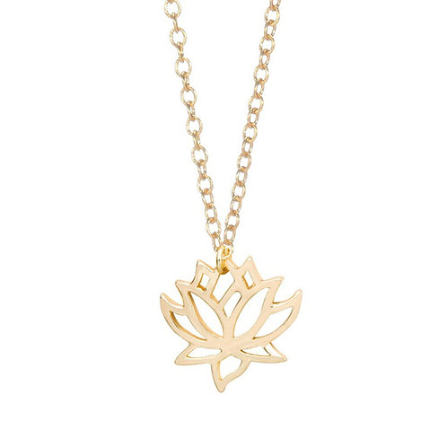 "Meditation Necklace ""Blooming Lotus"" - Gold"