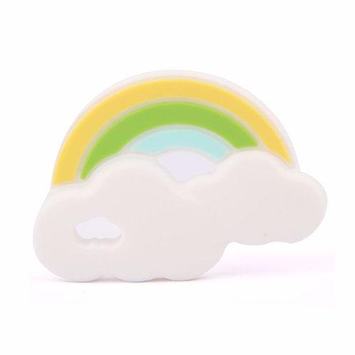Sensory Silicone Baby Teether Rainbow - Green