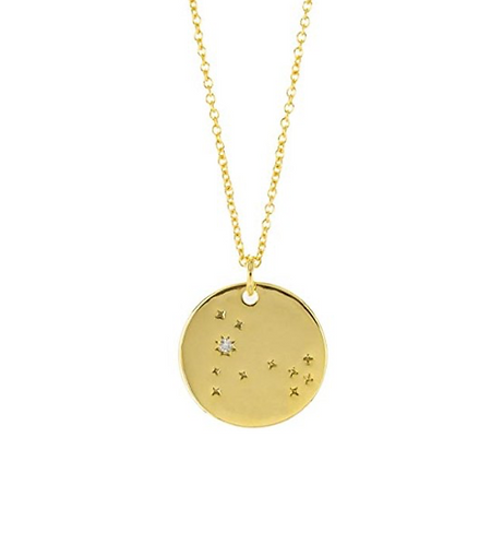 Constellation Zodiac Sign Necklace - Pisces