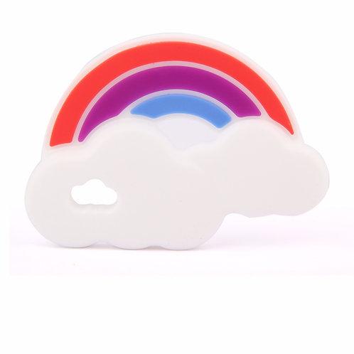 Sensory Silicone Baby Teether Rainbow - Purple