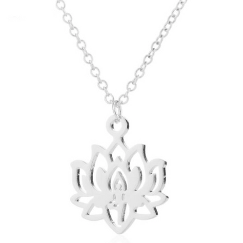 Lotusblüten Kette - Silber