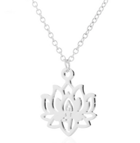 "Buddhist Necklace ☾ ""Lotus Flower"" - Silver"