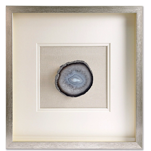 Table Art Feng Shui ☾ Géode Agate Encadrée