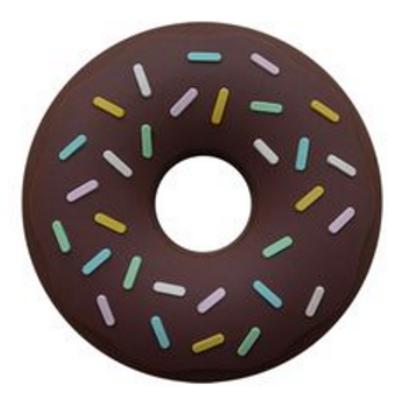 """Baby Beißring """"Donut"""" - Schokolade"""