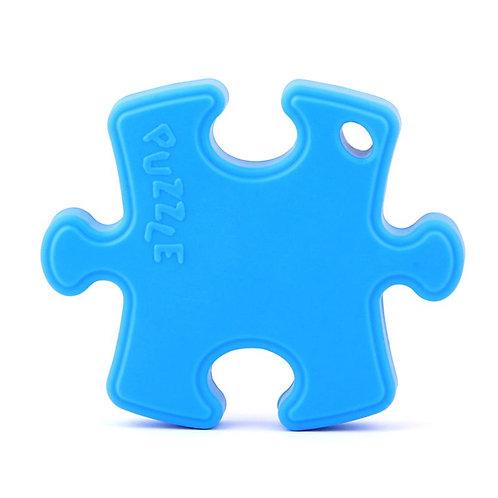 """Jouet de Dentition en Silicone """"Puzzle"""" - Bleu Ciel"""