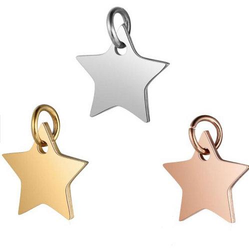 Mini Stern mit Initiale Gravur