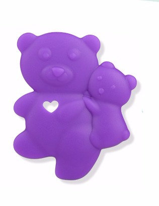 Sensory Silicone Baby Teether Baby Bear - Purple