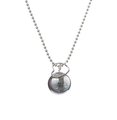 Pregnancy Chime Necklace MAMA LOVE - Silver
