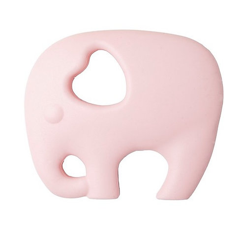 "Baby Silicone Teether ""Wise Elephant"" - Pink"