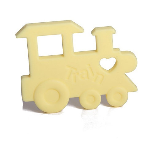"Silicone Baby Teether ""Chew Chew The Train"" -Yellow"
