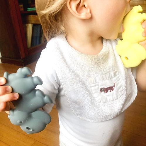 """Beißring BPA Frei """"Hippo"""" - Gelb"""