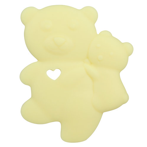 Sensory Silicone Baby Teether Baby Bear - Yellow