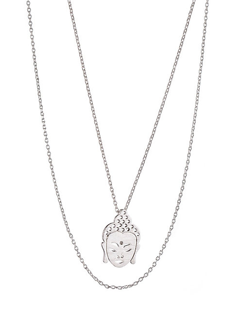 Buddha Pendant Necklace - Silver