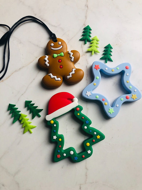 """Non Toxic Baby Teether """"Christmas Tree"""" - Forest"""