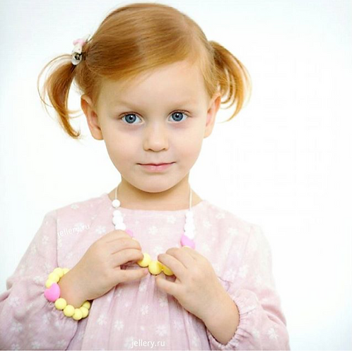 """Children Bracelet """"Little Diva"""" - Yellow"""