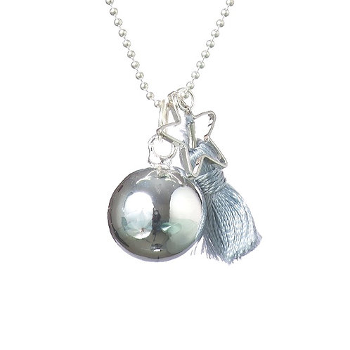 Pregnancy Baby Chime Necklace GYPSY MAMA - Grey