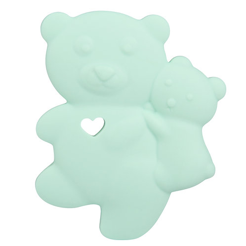 Sensory Silicone Baby Teether Baby Bear - Mint