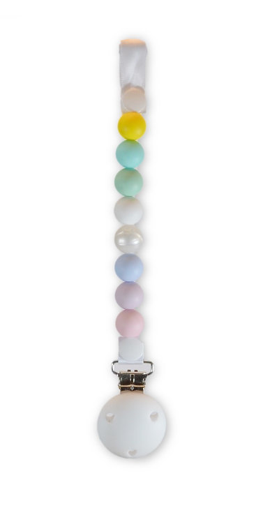 Dummy Clip / Pacifier Chain - Rainbow