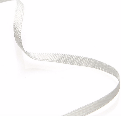 """""""Silky"""" Ribbon Necklace - White"""
