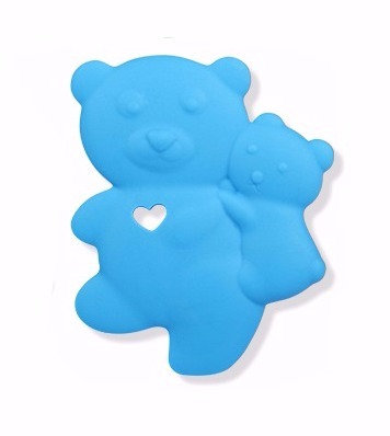 Sensory Silicone Baby Teether Baby Bear - Sky Blue