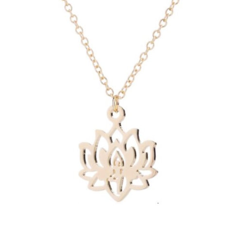 Lotusblüten Kette - Gold