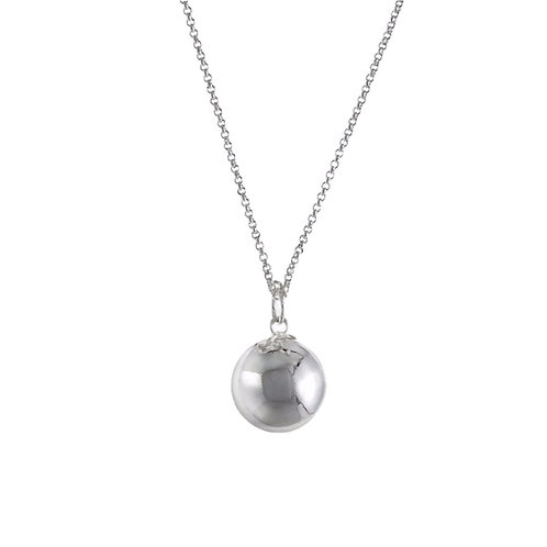 Pregnancy Baby Chime Necklace - Plated Silver Necklace