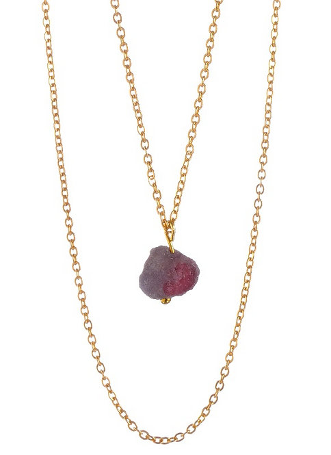 "Collana di Cristalloterapia ☾ ""My Little Crystal"" - Druzy di Quarzo Rosa"